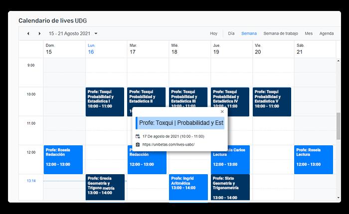 calendario udg clases para el examen de paa college board de udg